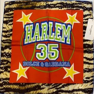 "Dolce & Gabbana Harlem 35 Silk Scarf 18"" Square"